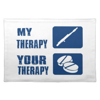 flute is my therapy placemat