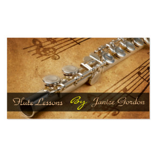 Flute Lessons Instrument Music Instructor Business Double-Sided Standard Business Cards (Pack Of 100)