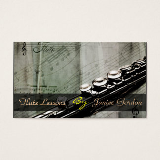 Flute Lessons Instrument Music Instructor Business Business Card