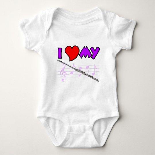 Flute Love Baby Bodysuit