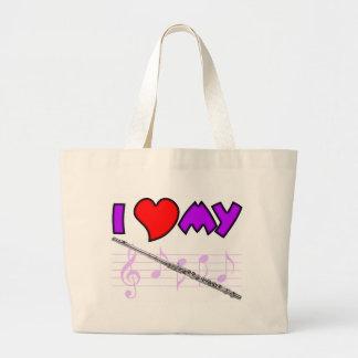 Flute Love Large Tote Bag