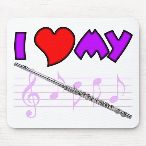 Flute Love Mouse Pad
