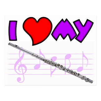 Flute Love Postcard