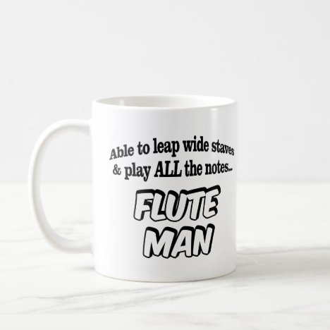 Flute Man - Music Superhero Coffee Mug