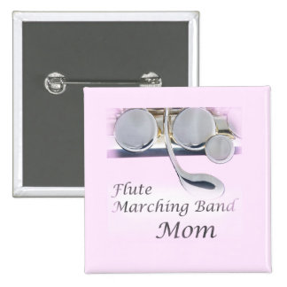 Flute Marching Band Mom Button