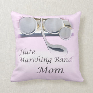 Flute Marching Band Mom Pillow