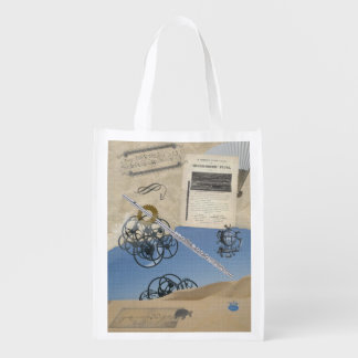 Flute Mirage Steampunk Fantasy Reusable Grocery Bag