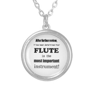 Flute Most Important Instrument Personalized Necklace