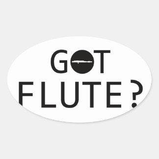 FLUTE music designs Oval Sticker