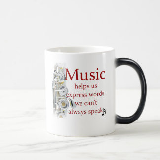 Flute Music Helps Us Express Words Coffee Mug Cup