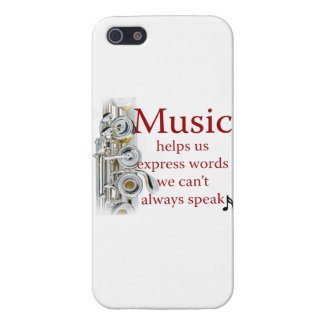 Flute Music Helps Us Express Words Smart Phone iPhone SE/5/5s Cover