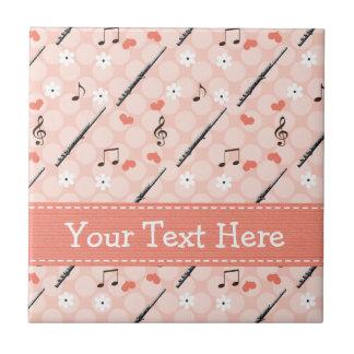 Flute Music Note Ceramic Tile Trivet