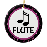 Flute Music Notes Christmas Ornament Gift