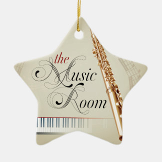 Flute Music Room Ceramic Ornament