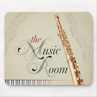 Flute Music Room Mouse Pad