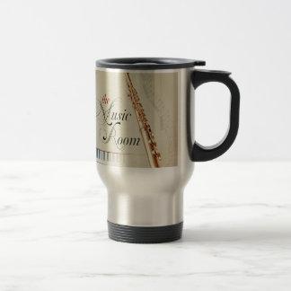 Flute Music Room 15 Oz Stainless Steel Travel Mug
