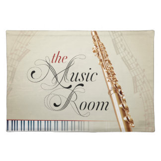 Flute Music Room Placemat