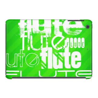 Flute; Neon Green Stripes iPad Mini Retina Covers