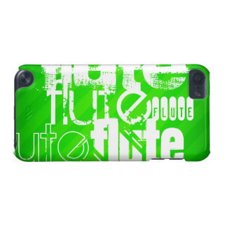 Flute; Neon Green Stripes iPod Touch 5G Case
