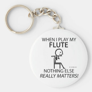 Flute Nothing Else Matters Key Chains