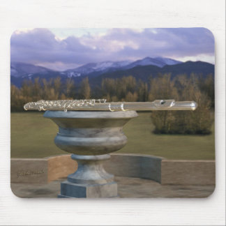 Flute on Marble Vase 2a Mouse Pad