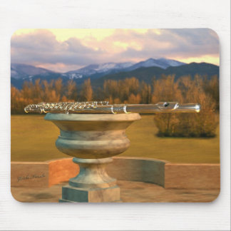 Flute on Marble Vase 2b Mouse Pad