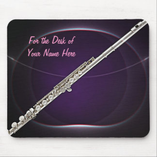 Flute On Purple Mouse Pad