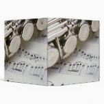 Flute on Sheet Music 3 Ring Binders