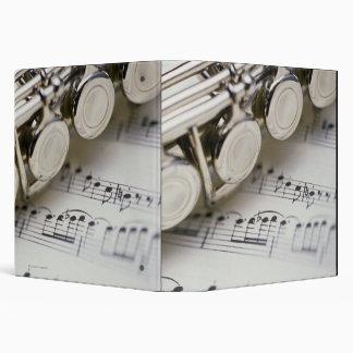 Flute on Sheet Music Binder