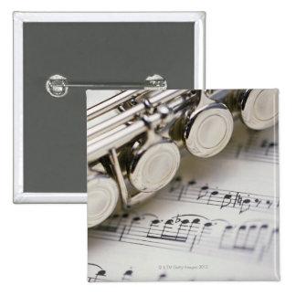 Flute on Sheet Music Button