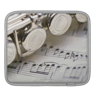 Flute on Sheet Music iPad Sleeve