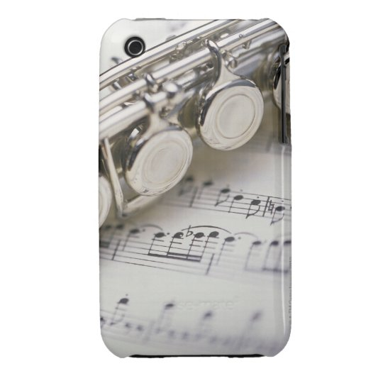 Flute on Sheet Music iPhone 3 Case