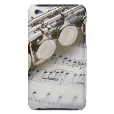 Flute On Sheet Music Ipod Case-mate Case at Zazzle