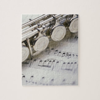 Flute on Sheet Music Jigsaw Puzzle