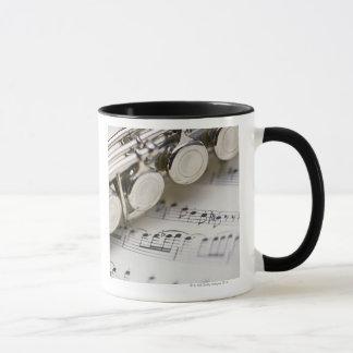 Flute on Sheet Music Mug