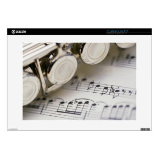 Flute on Sheet Music Skin For Laptop