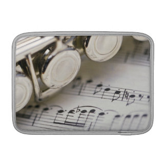 Flute on Sheet Music Sleeve For MacBook Air