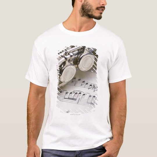 Flute on Sheet Music T-Shirt