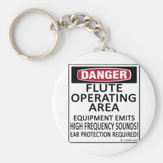 Flute Operating Area Key Chains
