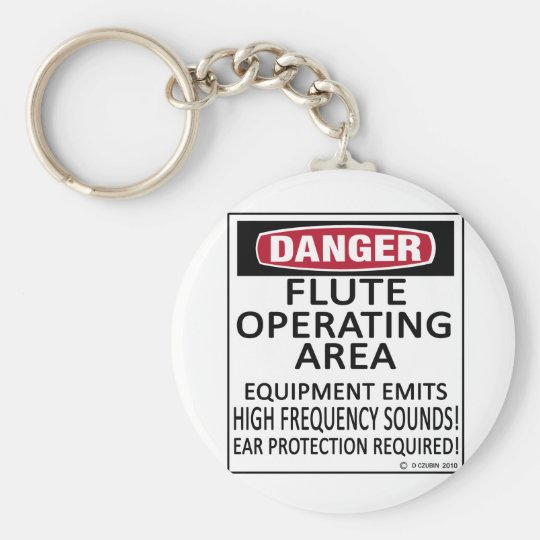 Flute Operating Area Keychain