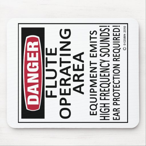 Flute Operating Area Mouse Pad