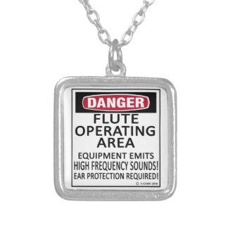 Flute Operating Area Necklace