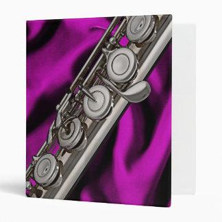 Flute or Flutist 3 Ring Notebook Binder