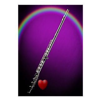 Flute or Flutist Poster