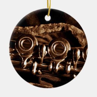 Flute Photo Ceramic Ornament