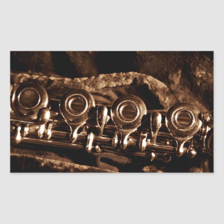 Flute Photo Rectangular Sticker