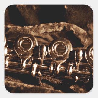 Flute Photo Square Sticker