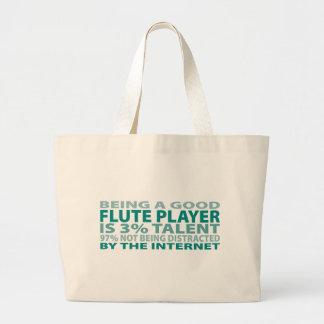 Flute Player 3% Talent Tote Bag