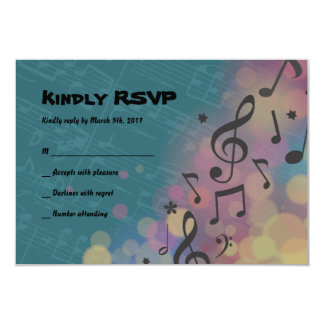 Flute Player Bat Mitzvah Invitation Reply Card