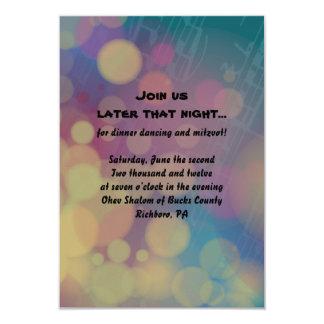 Flute Player Bat Mitzvah Reception Party Card